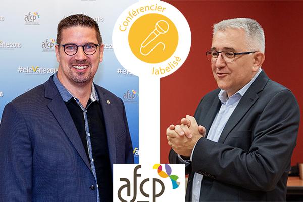 Labelises afcp 2 - Eric et Jean-Christian, labellisés conférenciers professionnels