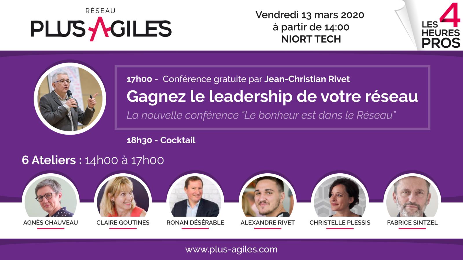 4h pro 202002 facebook event - Les 4 Heures Pros : Ateliers et conférence gratuits à Niort le 13 mars 2020